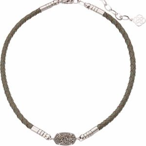 Kendra Scott Jewelry - Authentic Kendra Scott leather choker silver EUC